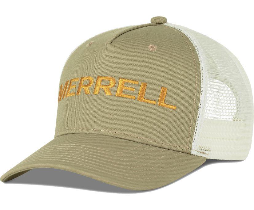 Trailhead Embroidery Woodmark Trucker Hat, Chinchilla, dynamic