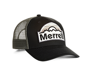 Merrell Patch Trucker Hat, Black/Asphalt, dynamic
