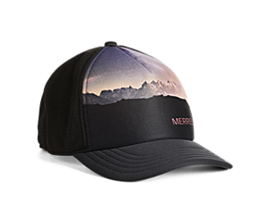 Photo Print Trucker Hat, Black, dynamic