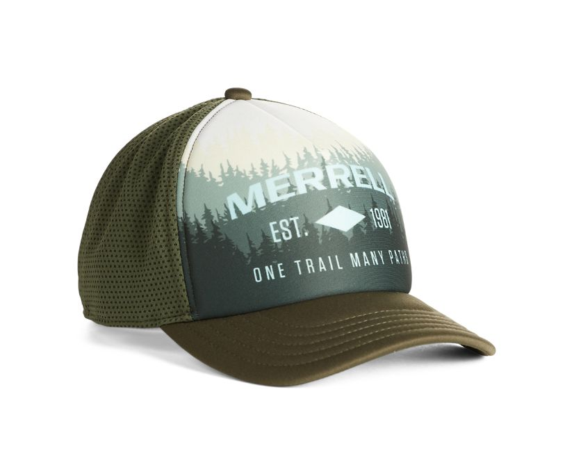 Photo Print Trucker Hat, Kombu, dynamic