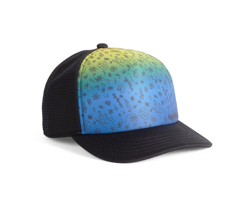 Outdoors For All Gradient Hat, Gradient Print, dynamic