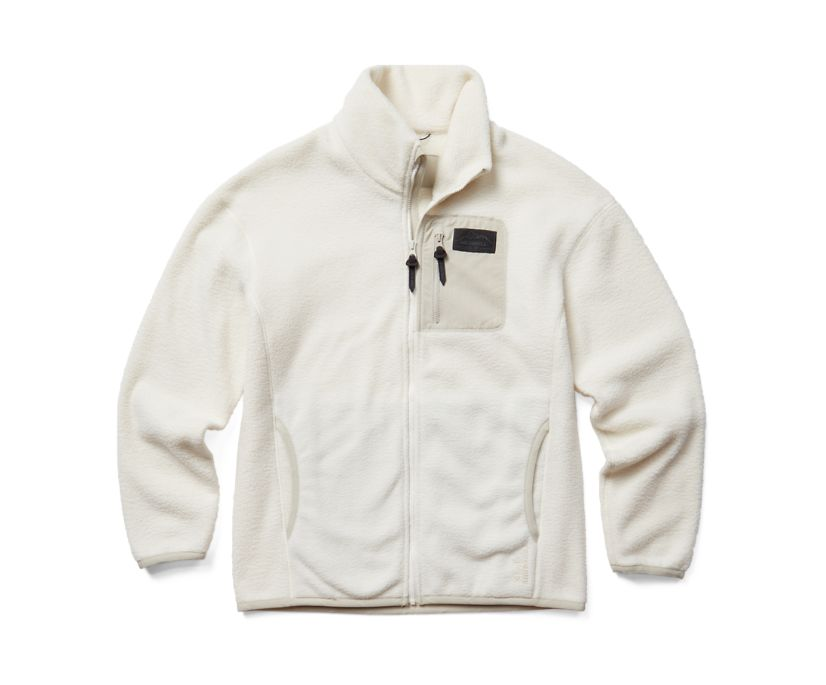 Sherpa w/Snaps and Overlays Full Zip, Chalk, dynamic