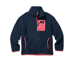 Sherpa w/Snaps and Overlays Full Zip, Navy, dynamic