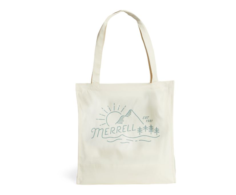 Trailhead Canvas Tote Bag, Natural-Mountainscape, dynamic