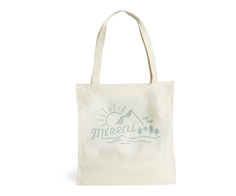 Trailhead Canvas Tote Bag, Natural-Mountainscape, dynamic