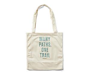Trailhead Canvas Tote Bag, Natural Logo 2, dynamic