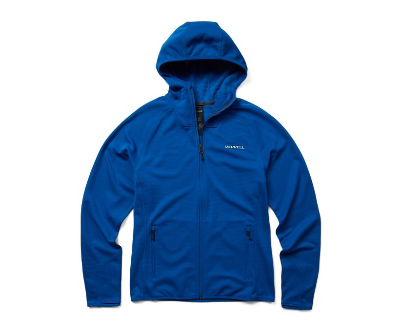 Terrain Geotex Full Zip Hoodie, Blue, dynamic