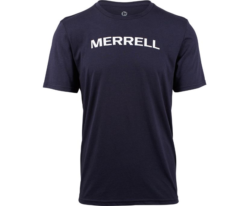 Wordmark Tee, Navy, dynamic