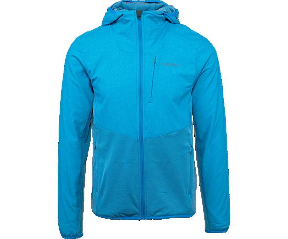 TrekPro Mid-Layer Hooded Full Zip Jacket, Indigo Bunting, dynamic