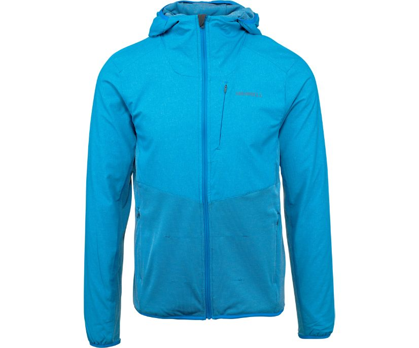 TrekPro Mid-Layer Hooded Full Zip Jacket, Indigo Bunting, dynamic