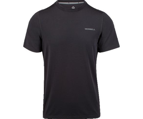 Tencel® Short Sleeve Tee with drirelease® Fabric, Black/Asphalt, dynamic