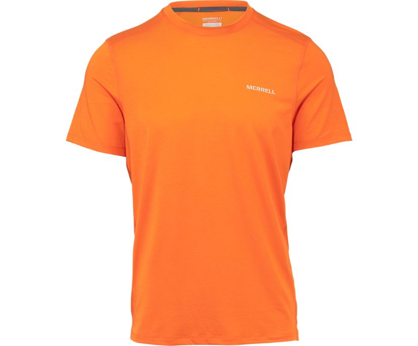 Tencel® Short Sleeve Tee with drirelease® Fabric, Russet Orange, dynamic