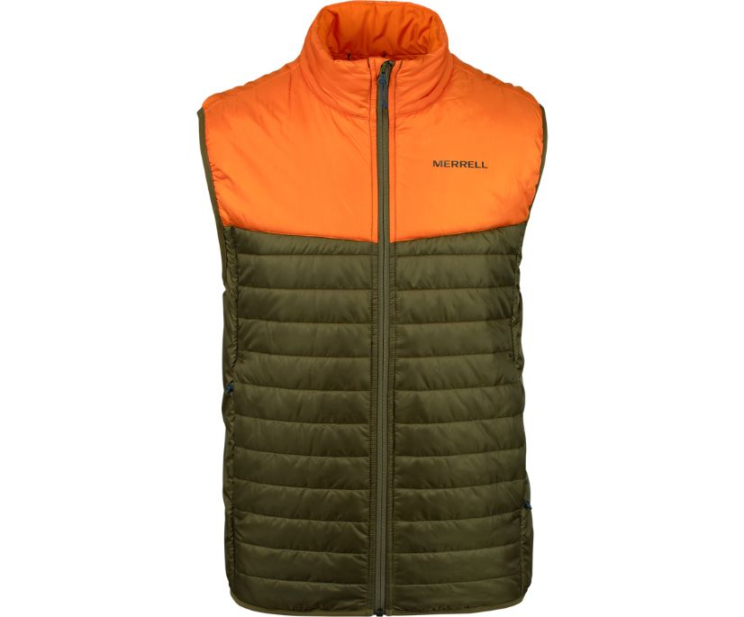 Entrada Insulated Vest, Dusty Olive, dynamic