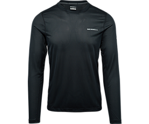 Entrada II Long Sleeve Wicking Tech Tee, Black/Reflective, dynamic