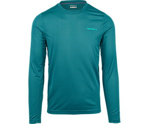 Entrada II Long Sleeve Wicking Tech Tee, Dragonfly, dynamic