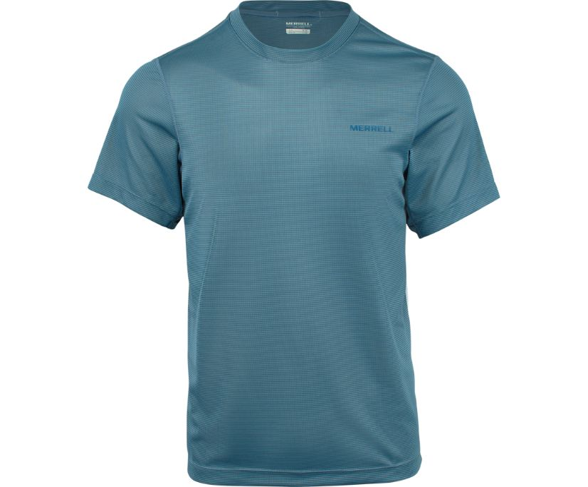 Entrada II Short Sleeve Wicking Tech Tee, Bering Sea, dynamic
