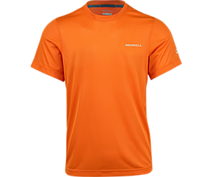 Entrada II Short Sleeve Wicking Tech Tee, Russet Orange, dynamic
