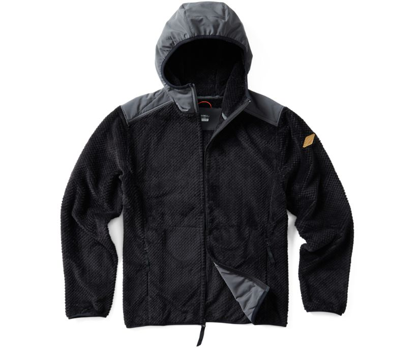 Trailhead Diamond Full Zip Hoodie, Black, dynamic