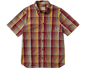 Wrangell Short Sleeve Button Down, Syrah, dynamic