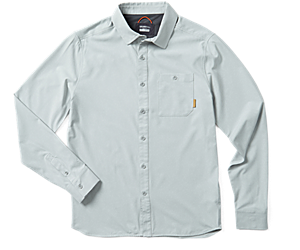 Entrada III Long Sleeve Button Down, High Rise Heather, dynamic