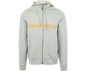 Horizon Full Zip Hoodie, Medium Grey Heather, dynamic