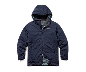 Whisper Rain Insulated Jacket, Navy, dynamic