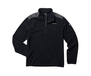 Terrain 1/4 Zip Fleece, Black, dynamic