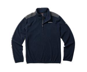 Terrain 1/4 Zip Fleece, Navy, dynamic