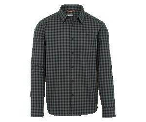 TR Plaid Long Sleeve Button Down, Asphalt/Black, dynamic