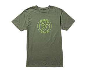 Trailmarker Short Sleeve Tee, Olive Heather, dynamic