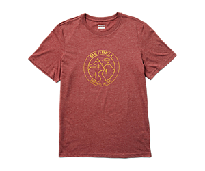 Trailmarker Short Sleeve Tee, Burgundy Heather, dynamic
