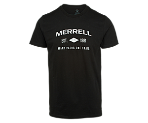 Merrell Est 1981 Wordmark Short Sleeve Tee, Black, dynamic