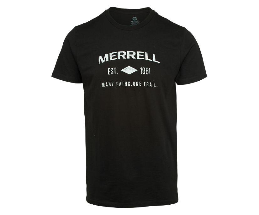 Merrell Est 1981 Wordmark Short Sleeve Tee, Black, dynamic