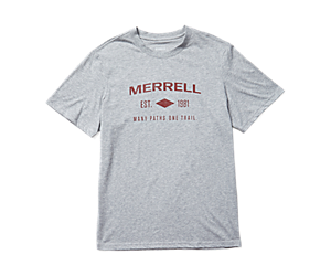 Merrell Est 1981 Wordmark Short Sleeve Tee, Grey Heather, dynamic