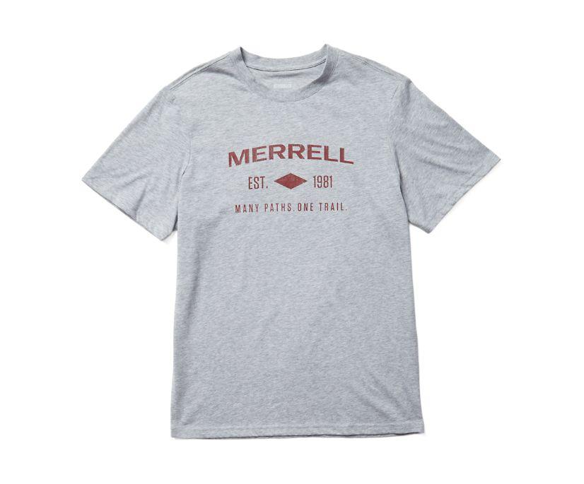 Merrell Est 1981 Wordmark Short Sleeve Tee, Grey Heather, dynamic