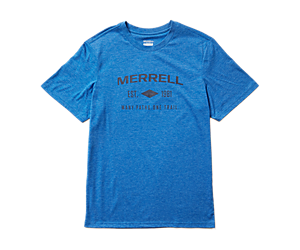 Merrell Est 1981 Wordmark Short Sleeve Tee, Royal Heather, dynamic