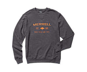 Merrell Est 1981 Wordmark Crewneck Pullover, Asphalt Heather, dynamic