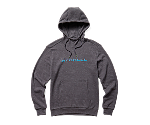 Gradient Wordmark Pullover Hoody, Asphalt Heather, dynamic