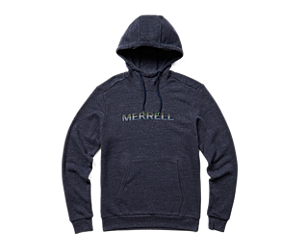 Gradient Wordmark Pullover Hoody, Navy Heather, dynamic