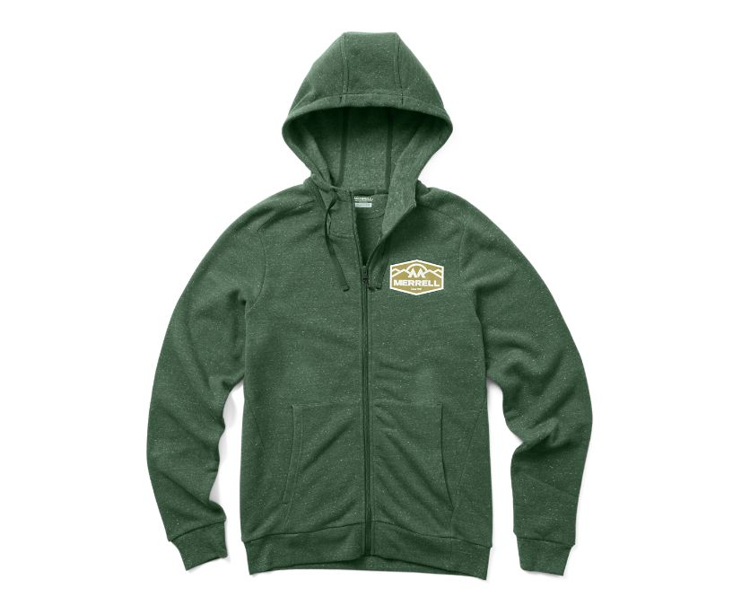 Merrell Emblem Full Zip Hoody, Forest Heather, dynamic
