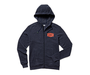 Merrell Emblem Full Zip Hoody, Navy Heather, dynamic