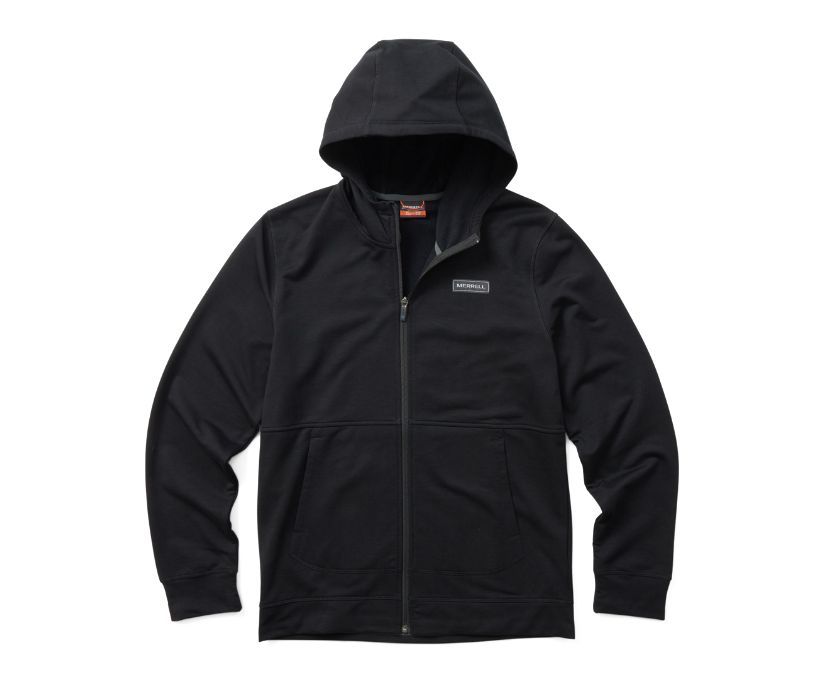 Timber Full Zip Hoody, Black, dynamic