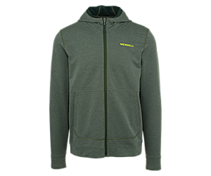Timber Full Zip Hoody, Forest Heather, dynamic