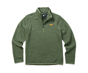 Sweater Weather 1/4 Zip, Lichen Heather, dynamic