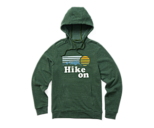 Hike On Pullover Hoody, Forest Heather, dynamic