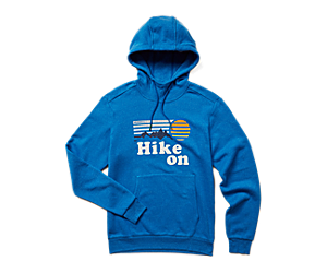 Hike On Pullover Hoody, Blue Heather, dynamic