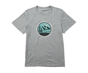 Unlikely Hikers X Merrell Short Sleeve Tee, Grey Heather, dynamic