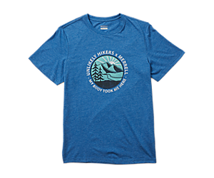 Unlikely Hikers X Merrell Short Sleeve Tee, Royal Heather, dynamic