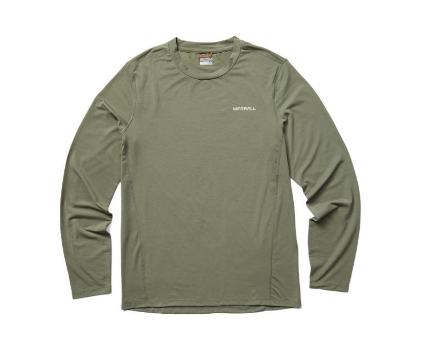 Tencel™ Long Sleeve Tee, Lichen, dynamic