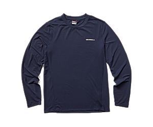 Tencel™ Long Sleeve Tee, Navy, dynamic